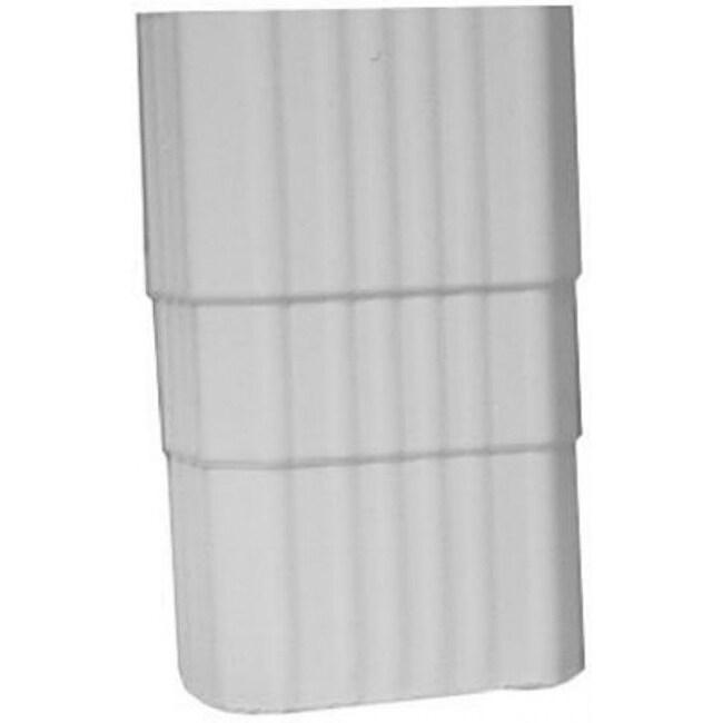 Genova AW203 Vinyl Duraspout Coupler, 2 x 3, White