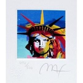 "Liberty Head III, Ltd Ed Lithograph (Mini 3.5"" x 3""), Peter Max"