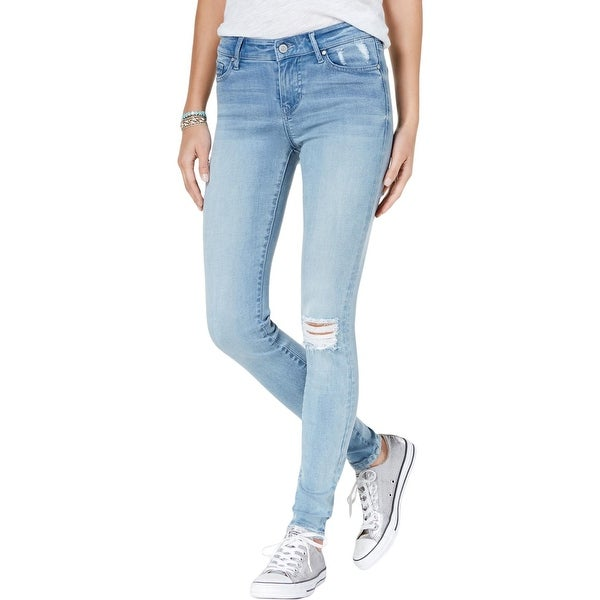 8c5a03aac00 Shop Celebrity Pink Womens Juniors Walker Ankle Jeans Distressed ...