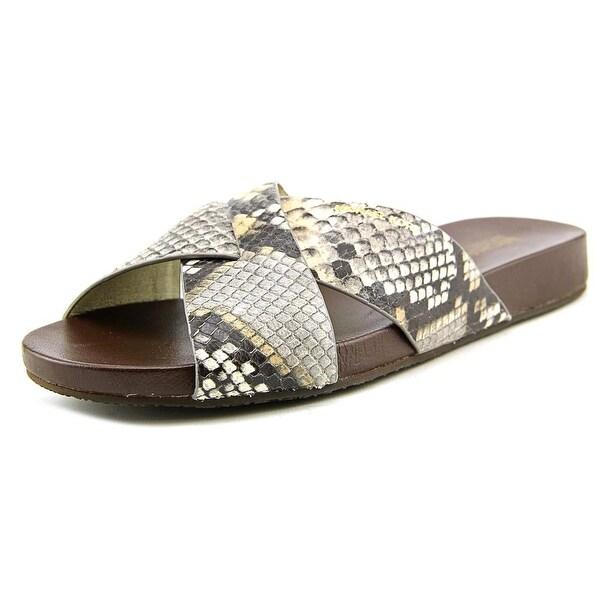 Michael Michael Kors Somerly Slide Open Toe Leather Slides Sandal