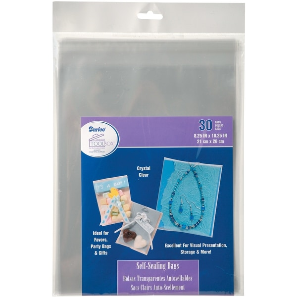 "Self-Sealing Bags 30/Pkg-8.25""X10.25"" Clear"