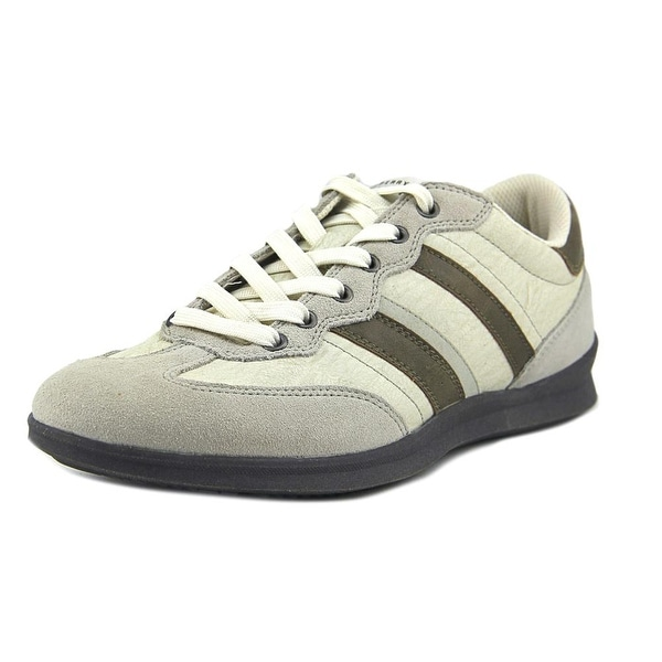 Shop Perry Ellis Trainer Men Leather Ivory Fashion Sneakers - Free ... 479c4aa5a