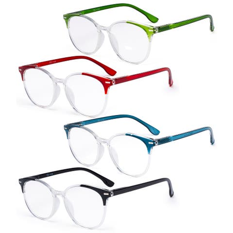 Eyekepper Stylish 4 Pack Large Round Reading Glasses For Women