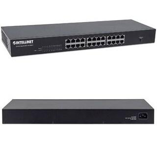 Intellinet Gigabit 24 Port Switch, Rack, Metal