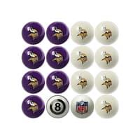 NFL Minnesota Vikings Home vs. Away Team Billiard Pool Ball Set - White