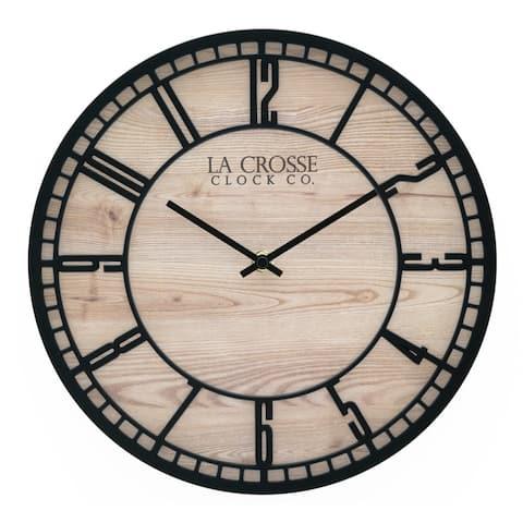 """La Crosse Clock 404-3629 11.5"""" Barrow Quartz Wall Clock"""