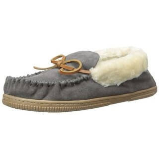 White Mountain Womens SLEEPOVER Suede Closed Toe Slip On Slippers