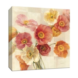 """PTM Images 9-152460  PTM Canvas Collection 12"""" x 12"""" - """"Poppies Delight I"""" Giclee Poppies Art Print on Canvas"""