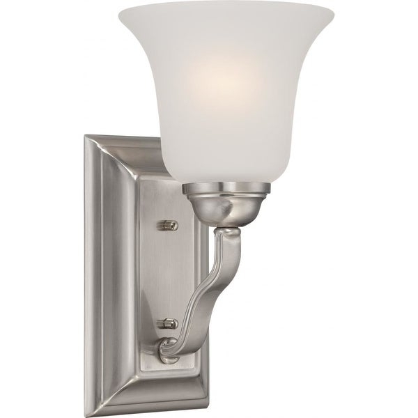 "Nuvo Lighting 60/5591 Elizabeth 1-Light 6"" Wide Bathroom Sconce with Frosted Glass Shade - Brushed nickel"