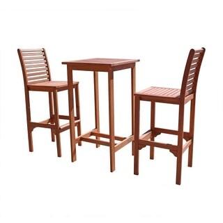 Vifah V495SET1 Malibu Eucalyptus Bistro Set Including Chairs and Dining Table