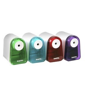 X-ACTO Mighty Mite Heavy Duty Battery Pencil Sharpener, Assorted Colors