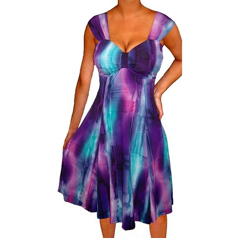 Funfash Plus Size Women Purple A Line Cocktail Party Dress Made USA