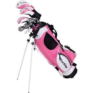 Tour Edge HT Max-J Junior Girl RH 5x2 Pink Golf Set Age 9-12