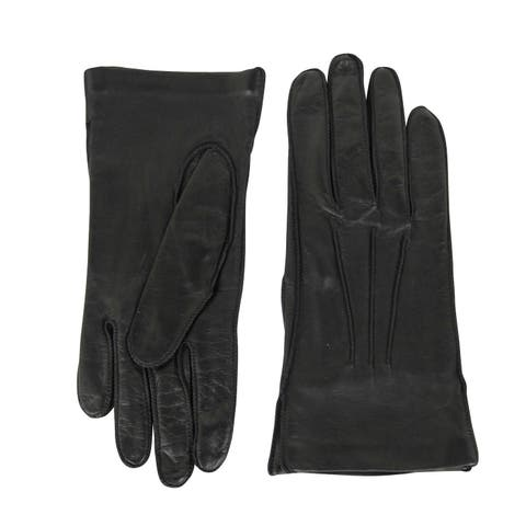 Bottega Venega Women's Black Leather Long Gloves 299241 1000 - One size