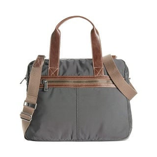 J. Fold Montreal Mens Nylon Top Handle Briefcase Charcoal