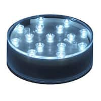 "4"" Pure White LED Lighted Table Top Round Display Base"