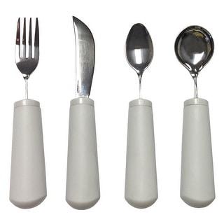 Full Set Of Grip Utensils - Fork, Knife, Spoon And Teaspoon