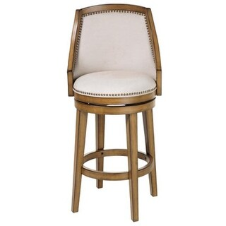 26 in. Charleston Wood Counter Stool with Putty Upholstered