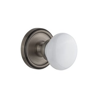 """Grandeur GEOHYD_PSG_234  Georgetown Solid Brass Rose Passage Knob Set with Hyde Park Knob and 2-3/4"""" Backset"""