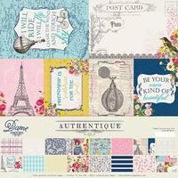 "Authentique Collection Kit 12""X12""-Dame"