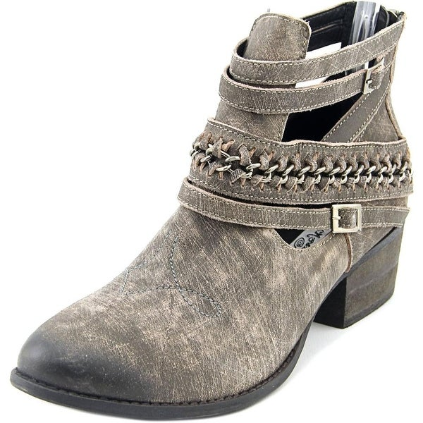 Naughty Monkey FishTail Women Round Toe Synthetic Gray Ankle Boot