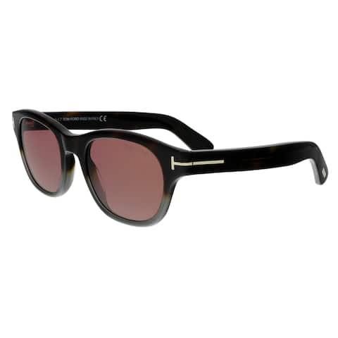 Tom Ford FT0530 56S O'keefe Dark Havana/Grey Rectangular Sunglasses - No Size
