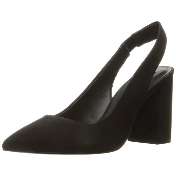 Steve Madden Womens Dove Leather Pointed Toe SlingBack Classic Pumps