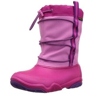 Crocs Kids' Swiftwater Waterproof Snow Boot - 6 m us toddler