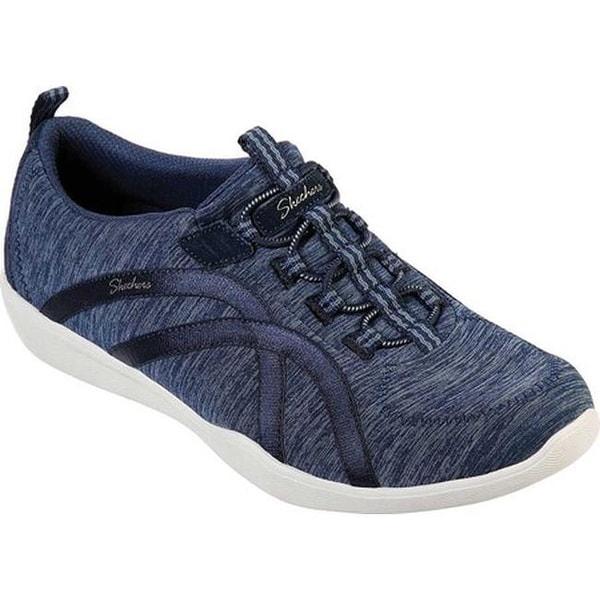 7efeeed4b1c Shop Skechers Women s Newbury Street Sneaker Navy - On Sale - Free ...