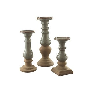 Emele Candle Holder Set 3CN - Taupe A2000354 Emele Candle Holder Set 3CN - Taupe