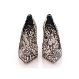 Dolce & Gabbana Lace Print Leather Pumps Stilettos Shoes - 40