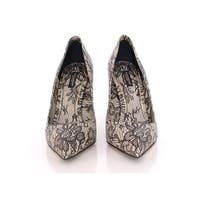 Dolce & Gabbana Lace Print Leather Pumps Stilettos Shoes - 40