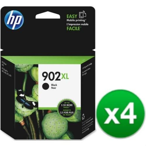 HP 902XL High Yield Black Original Ink Cartridge (T6M14AN) (4-Pack)
