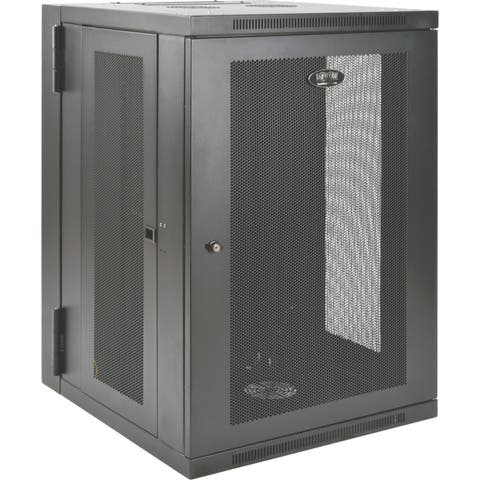 Tripp lite smartrack 18u ups-depth wall-mount rack enclosure cabinet, hinged back srw18usdp - Black