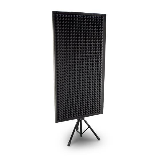 Sound Absorbing Wall Panel Studio Foam Acoustic Isolation & Dampening Wedge with Stand