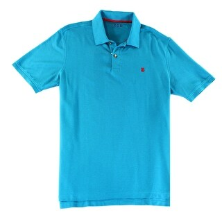 IZOD NEW Blue Mens Size Large L Wicking Advantage Polo Rugby Shirt