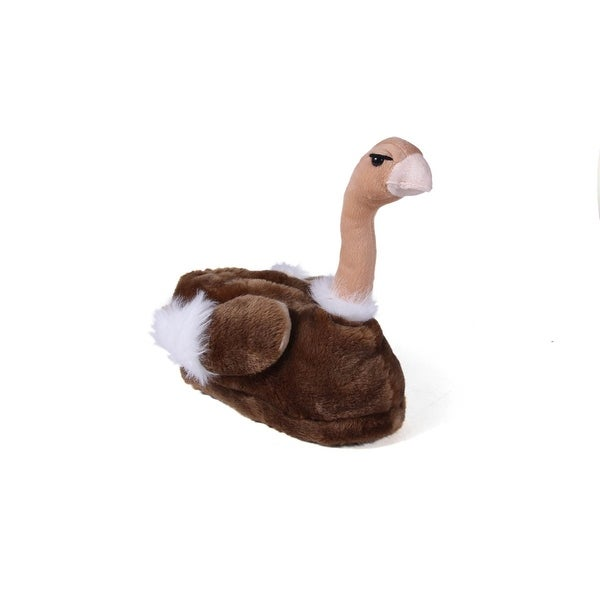Happy Feet Mens and Womens Ostrich Animal Slippers