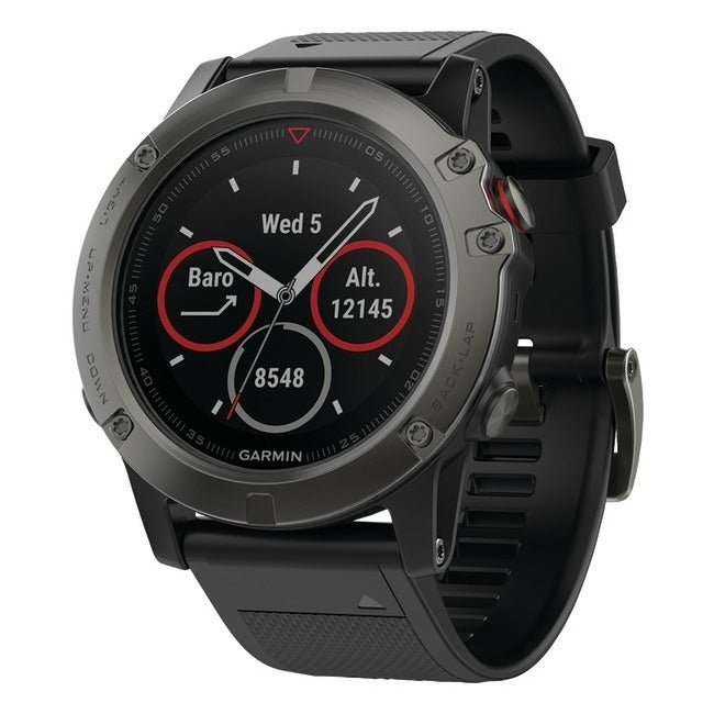 Garmin 010-01733-00 fenix 5x 51mm multisport gps watch sapphire edition with maps for sale