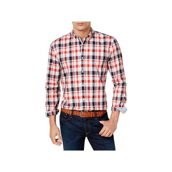 228fc5d0 Shop Tommy Hilfiger Mens Casual Shirt Custom Fit Plaid - Free ...