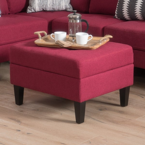 Zahra Tufted Fabric Storage Ottoman by Christopher Knight Home. Opens flyout.