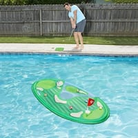 "66"" Floating Pro-Chip Spring Golf Swimming Pool Game - Green"