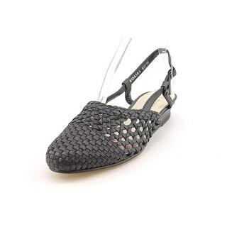 Mark Lemp By Walking Cradles Jessy Women N/S Open Toe Leather Black Wedge Heel
