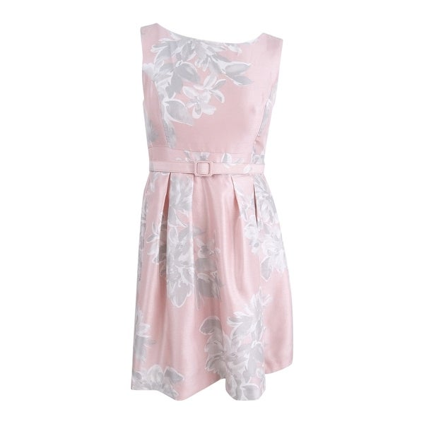 f7960a9966f26 Shop Jessica Howard Women's Petite Belted Floral-Print Dress - Blush - Free  Shipping Today - Overstock - 26290124