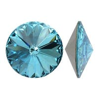 Swarovski Elements Crystal, 1122 Rivoli Fancy Stones 14mm, 2 Pieces, Light Turquoise F