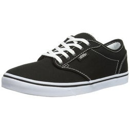 007f93fcfd Shop Vans Womens Atwood Low Canvas Black White Size 5 Womens - Free  Shipping Today - Overstock - 20985214