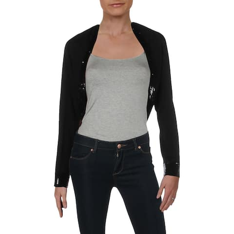 Donna Karan Womens Shrug Sequined Long Sleeves - M/L