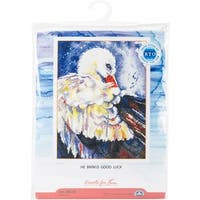"""He Brings Good Luck Counted Cross Stitch Kit-7.5""""X10"""" 14 Count"""