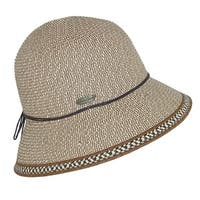 Sun N Sand Women's Straw Cloche with 3 Inch Brim and Edging Design