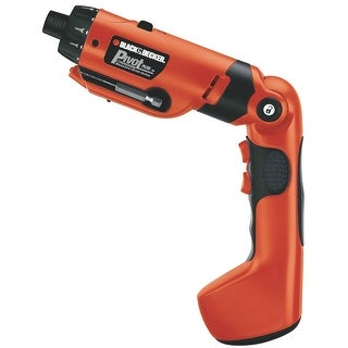 Black & Decker PD600 PivotPlus High Performance Rechargeable Screwdriver, 6V