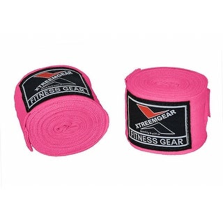 Boxing Hand Wraps Inner Gloves Bandage MMA Training Wrist Strap WRP-5 - Pink